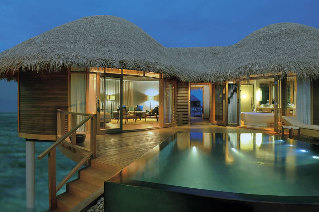 The spacious Water Villas at Constance Halaveli, Maldives