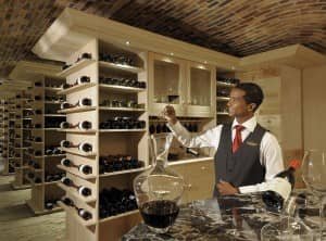 The wine cellar at Constance Le Prince Maurice