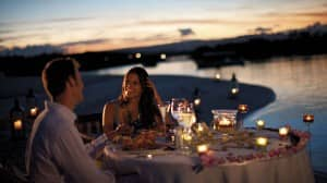 Enjoy a romantic dinner at Constance Le Prince Maurice