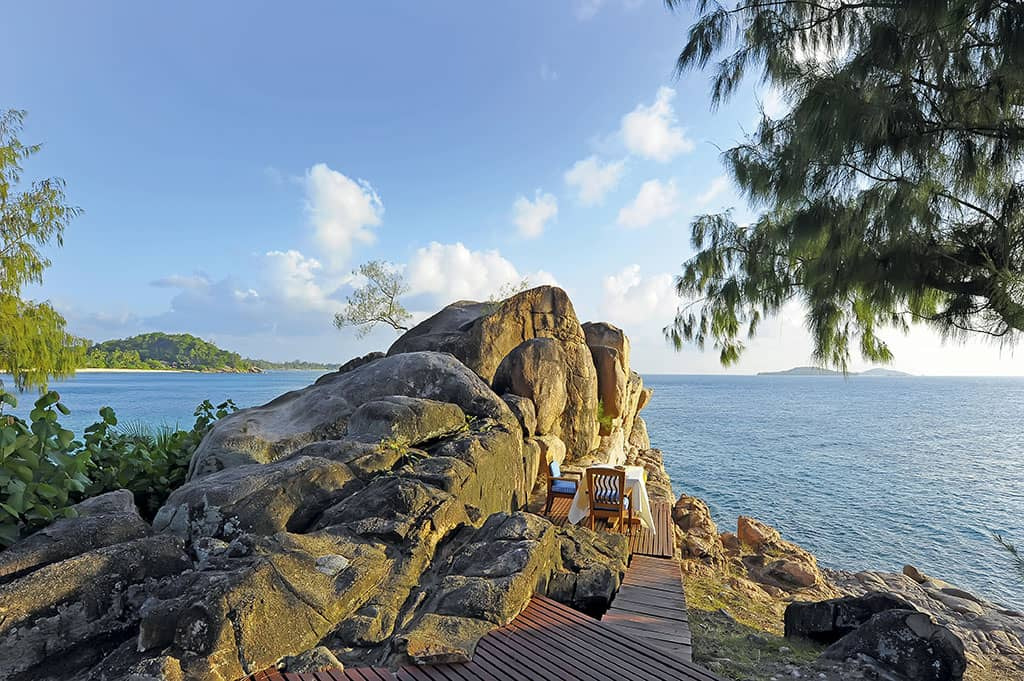 A romantic meal for two in the Seychelles
