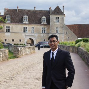 Head Sommelier Jerome Fauré at Clos Vougeot