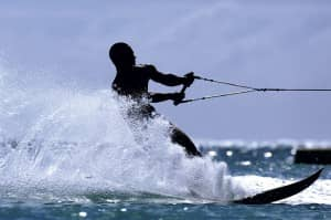 Wake boarding at Constance Hotels and Resorts