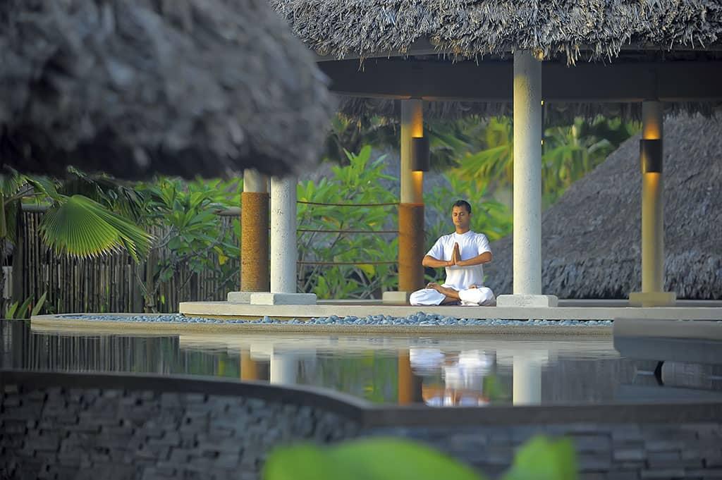 Yoga at Constance Eph├®lia, Seychelles