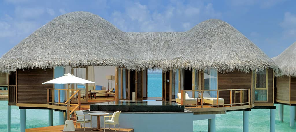 A water villa at Constance Halaveli, Maldives