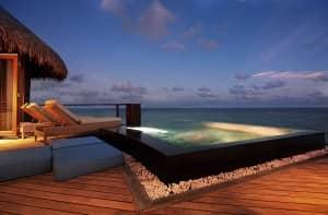 The luxurious water villa at Constance Halaveli