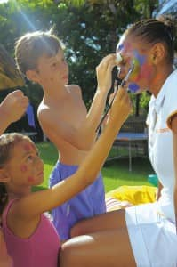 Face painting at Constance Le Prince Maurice
