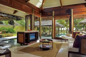 The luxurious villa at Constance Lémuria, Seychelles