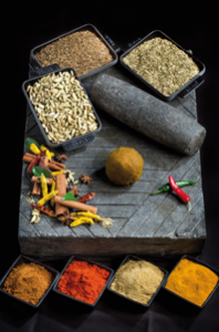 Making a Mauritian curry paste