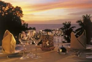 Sunset dinner at Constance Lémuria