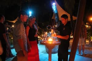 Brokenwood Wines serving guests at Constance Moofushi