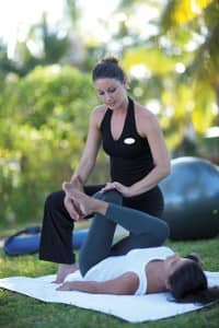 Yoga at Belle Mare Plage