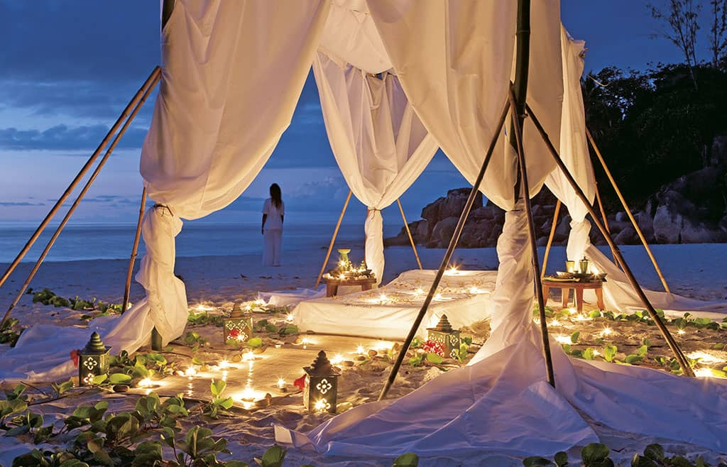 Spa treatments on the beach
