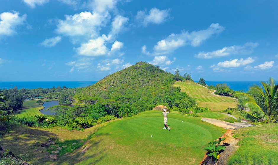 Golfers paradise in the Seychelles