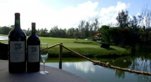 The red wine is waiting for Miguel Angel Jimenez