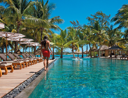 The pool at Constance Le Prince Maurice