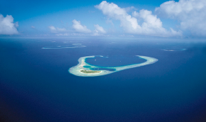 Aerial views of the Maldives