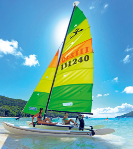 Adrenalin sports in the Seychelles - catamaran sailing