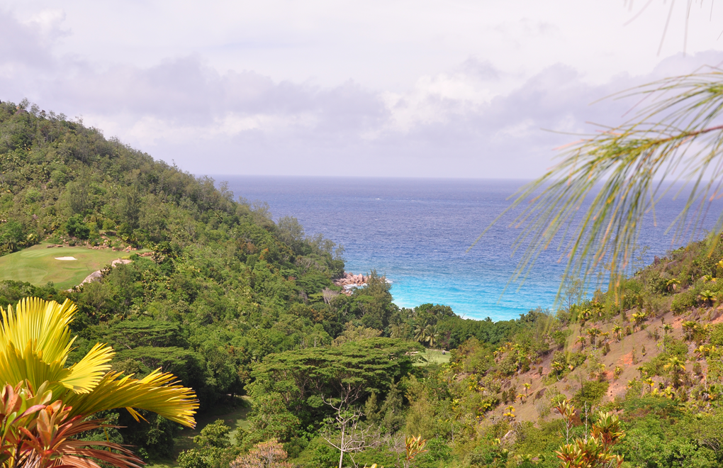 Views from the nature trail at Constance Lémuria, Seychelles