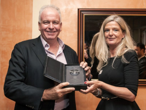 Jean Jacques Vallet, collects the Best Hospitality Reader's Choice award
