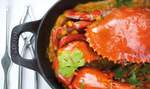 Fresh crab recipes at Constance
