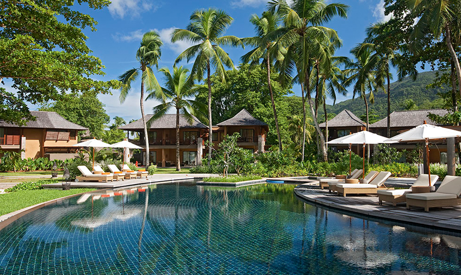 Soaking up the sun at Constance Ephélia, Seychelles