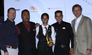 Wine competition winner: Cheryline Coulon from Constance Le Prince Maurice