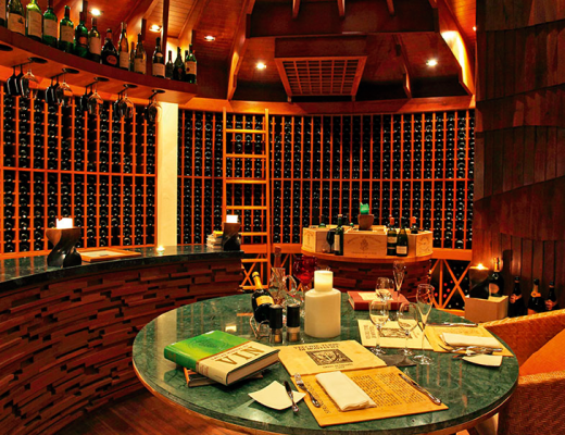 Wine recommendations at Constance Halaveli