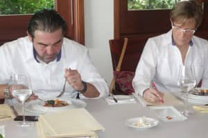Taste test: Judges Juan Amador Perez & Mrs Dominique Loiseau