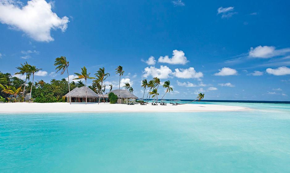 A tropical island paradise