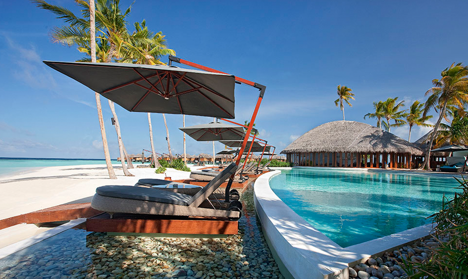 Poolside in the Maldives
