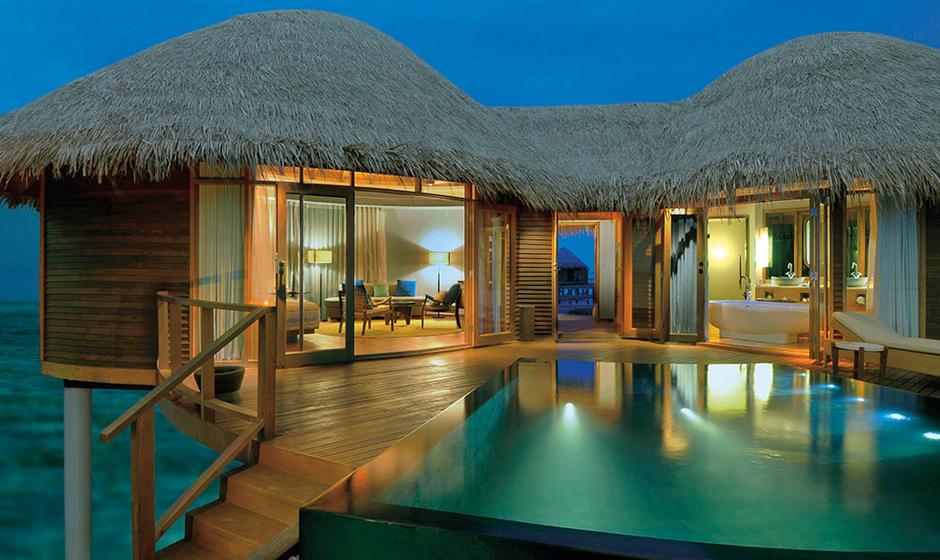 Constance Halaveli's luxurious water villa