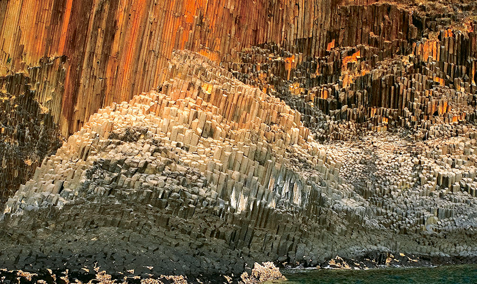 "The ""Organ pipes' rock formation"