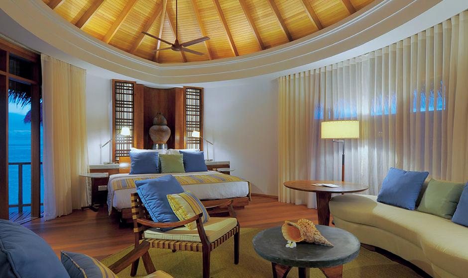 Inside the water villa