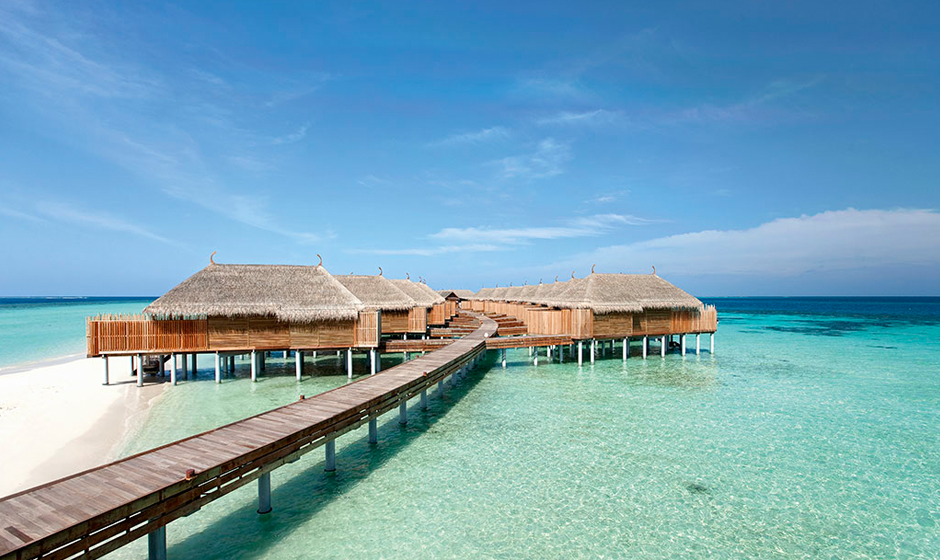 Senior water villas at Constance Moofushi, Maldives