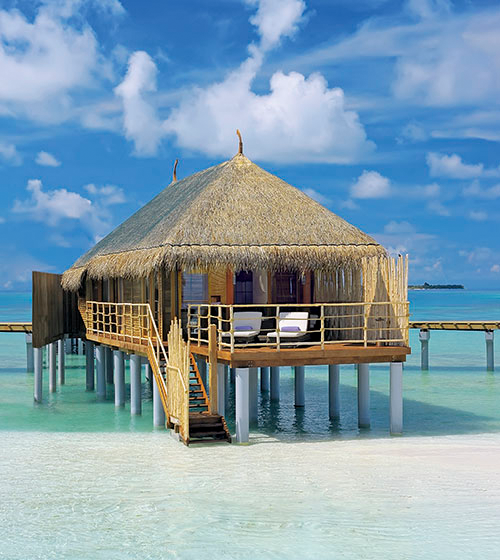 The senior water villa at Constance Moofushi