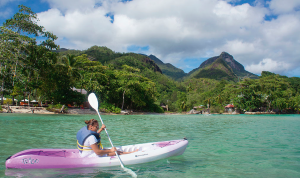 Kayaking at Constance Ephélia, Seychelles