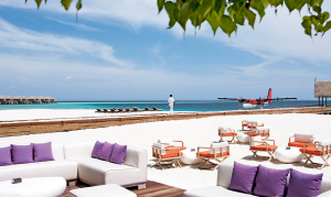 Arrive at Constance Moofushi by seaplane