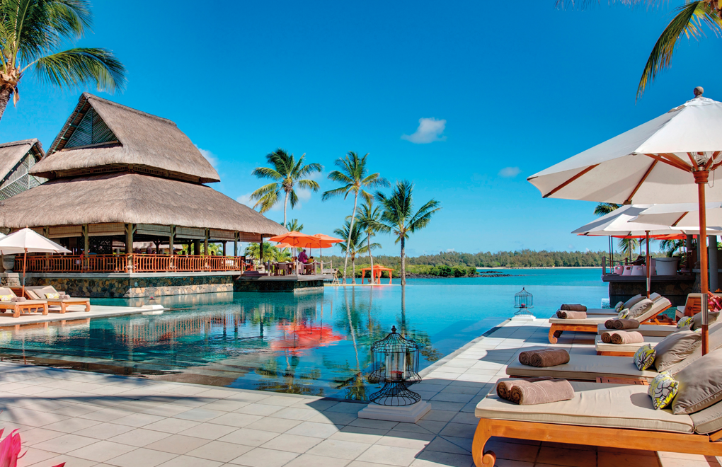 Spend the day soaking up the sun by the infinity pool