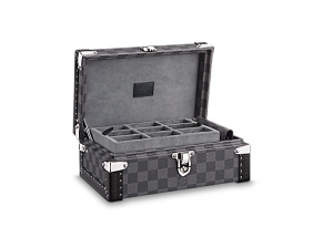 Oozing luxury, Louis Vuitton's Damier Graphite canvas cufflinks case