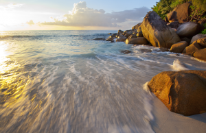 Sunset at Anse Georgette, Seychelles