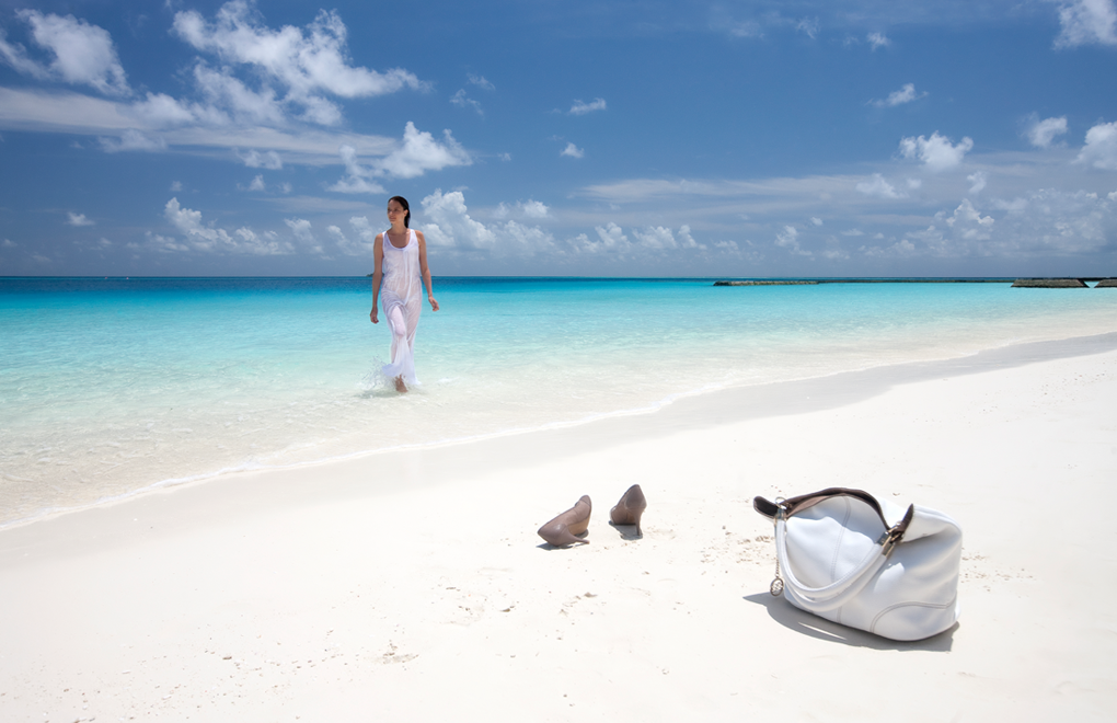Beach bliss at Constance Halaveli, Maldives