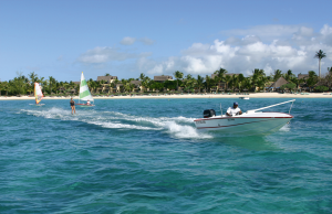 Learn to waterski at Constance Belle Mare Plage