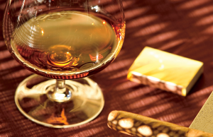 Enjoy a glass of brandy to finish off your meal right.