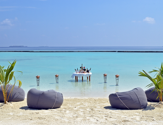 Wine tasting at Constance Halaveli, Maldives