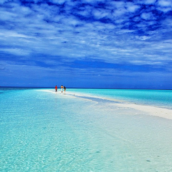 A walk along the sandbank from @kardinalmelon