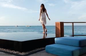Water villas at Constance Moofushi, Maldives