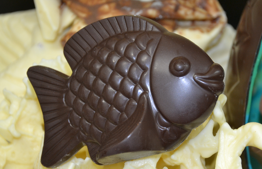 Chocolate fish from Constance Lémuria