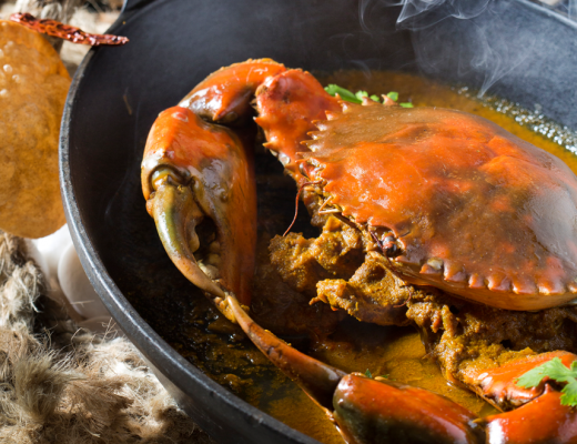 Crab curry at Constance Belle Mare Plage