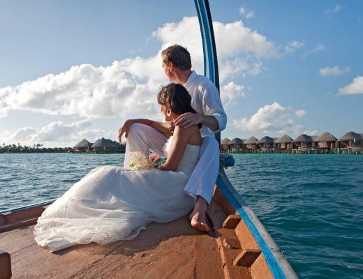 Set sail as man & wife at Constance Halaveli