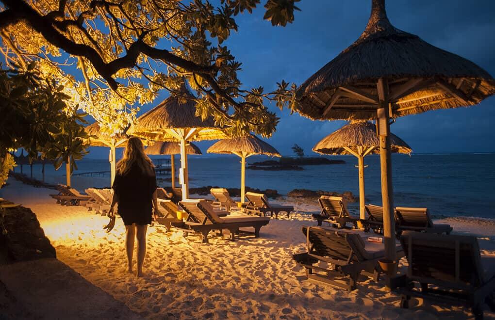 Tiziana Cosso enjoys Mauritius at Night.